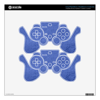 Art101 Gold Seal - Blue Berry Satin Silk Blanks PS3 Controller Decal