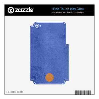 Art101 Gold Seal - Blue Berry Satin Silk Blanks Skins For iPod Touch 4G