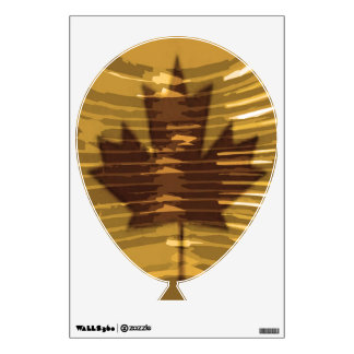 Art101 Golden Canadian Maple Leaf Wall Decals