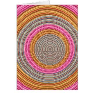 Art101 Grand Warm Color - SilkSatin Circles Greeting Cards