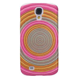 Art101 Grand Warm Color - SilkSatin Circles Samsung Galaxy S4 Cover