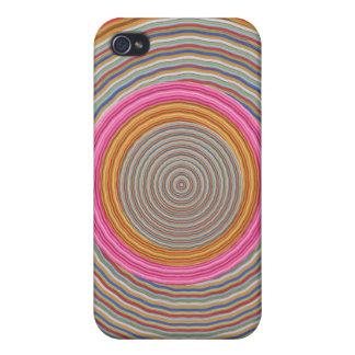 Art101 Grand Warm Color - SilkSatin Circles iPhone 4/4S Cases