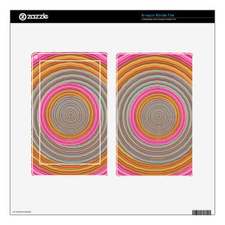 Art101 Grand Warm Color - SilkSatin Circles Decal For Kindle Fire