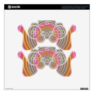 Art101 Grand Warm Color - SilkSatin Circles PS3 Controller Decal