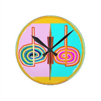 Art101 KREEYA : Karuna Reiki Healing Symbol Round Clocks