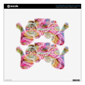 Art101 PINK Graffiti  - Exotic Sea Shells PS3 Controller Skins