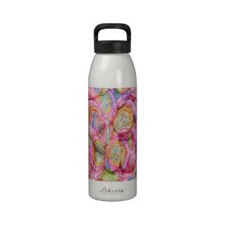 Art101 pintada ROSADA - cáscaras exóticas del mar Botella De Agua