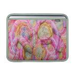 Art101 pintada ROSADA - cáscaras exóticas del mar Fundas MacBook