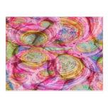 Art101 pintada ROSADA - cáscaras exóticas del mar Tarjeta Postal