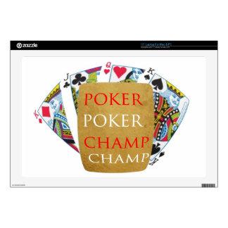 """ART101  Poker Champ  - Art n Designer Text 17"""" Laptop Skin"""