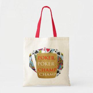 ART101  Poker Champ  - Art n Designer Text Bags