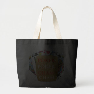 ART101  Poker Champ  - Art n Designer Text Canvas Bags