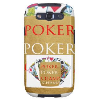 ART101  Poker Champ  - Art n Designer Text Samsung Galaxy SIII Cases