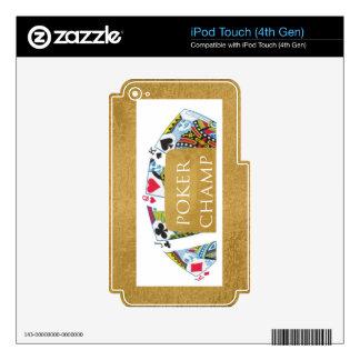ART101  Poker Champ  - Art n Designer Text Decals For iPod Touch 4G
