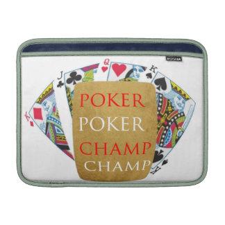 ART101  Poker Champ  - Art n Designer Text Sleeve For MacBook Air