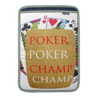ART101  Poker Champ  - Art n Designer Text MacBook Sleeve