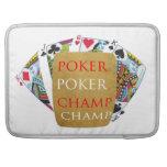 ART101  Poker Champ  - Art n Designer Text Sleeve For MacBooks