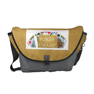 ART101  Poker Champ  - Art n Designer Text Courier Bags