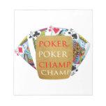 ART101  Poker Champ  - Art n Designer Text Notepads