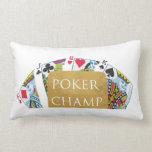 ART101  Poker Champ  - Art n Designer Text Throw Pillows