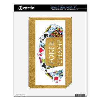 ART101  Poker Champ  - Art n Designer Text NOOK Color Decals