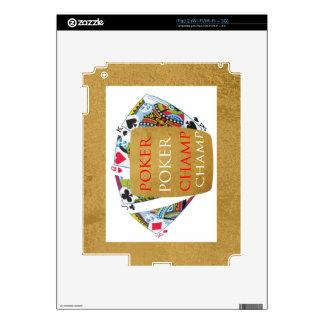 ART101  Poker Champ  - Art n Designer Text Decal For The iPad 2