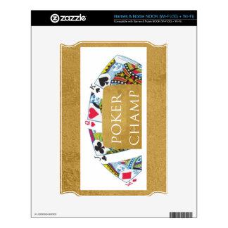ART101  Poker Champ  - Art n Designer Text NOOK Skins