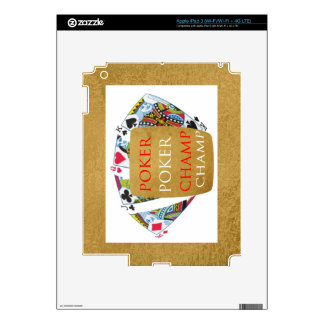 ART101  Poker Champ  - Art n Designer Text Skins For iPad 3