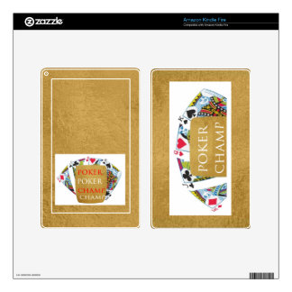 ART101  Poker Champ  - Art n Designer Text Skins For Kindle Fire