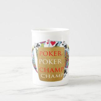 ART101  Poker Champ  - Art n Designer Text Tea Cup