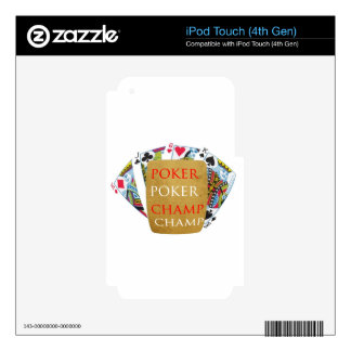 ART101 Poker Champion - Zazzle PlayingCards design iPod Touch 4G Decals