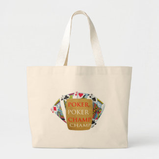 ART101 Poker Champion - Zazzle PlayingCards design Large Tote Bag