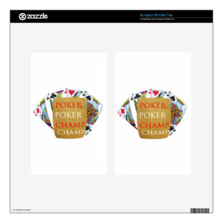 ART101 Poker Champion - Zazzle PlayingCards design Skins For Kindle Fire
