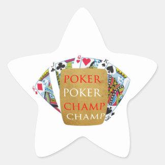 ART101 Poker Champion - Zazzle PlayingCards design Star Sticker