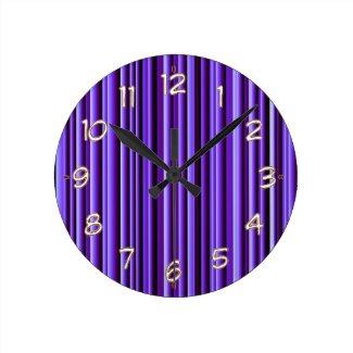 Art101 Purple flourscent Pattern - Match the Wall Clocks
