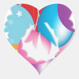 ART101 - Recorte de la guirnalda de las estrellas Pegatina En Forma De Corazón