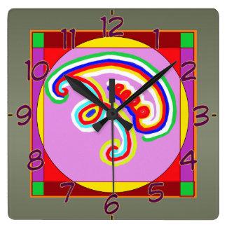 Art101 Reiki n Karuna Healing Symbol Collection Square Wallclock