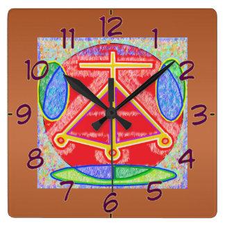 Art101 Reiki n Karuna Healing Symbol HEARTH Square Wall Clock