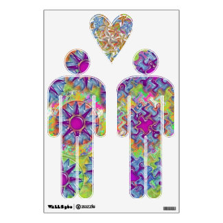 ART101 Satin Silk Surface - Welcome Gay Couple Wall Graphics