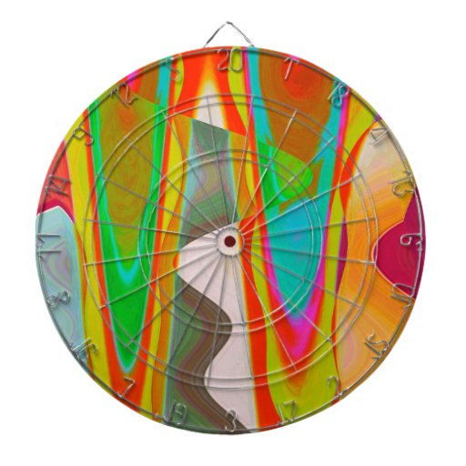 ART101 Shadow Talk Graphic Abstract Dartboard