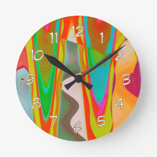 ART101 Shadow Talk Graphic Abstract Round Clock
