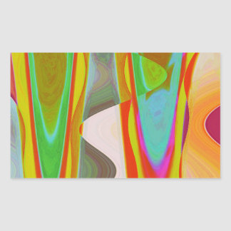 ART101 Shadow Talk Graphic Abstract Rectangular Sticker