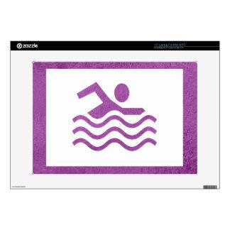 "Art101 Silk Satin Glowing Sparkle Blue n Purple 15"" Laptop Skins"