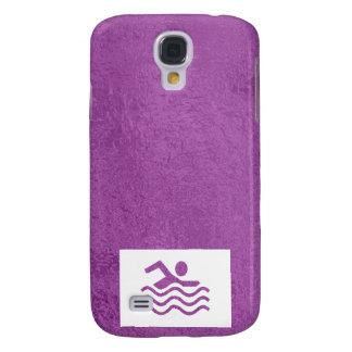 Art101 Silk Satin Glowing Sparkle Blue n Purple Galaxy S4 Case
