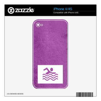 Art101 Silk Satin Glowing Sparkle Blue n Purple Decals For iPhone 4S