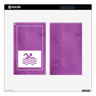 Art101 Silk Satin Glowing Sparkle Blue n Purple Kindle Fire Decals