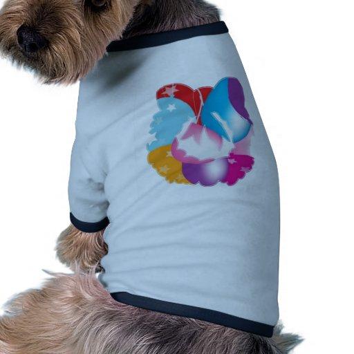 ART101 - Stars n Baloons Wreath Cutout Dog Tshirt