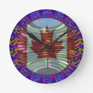 Art101 Welcome to Canada Round Clock