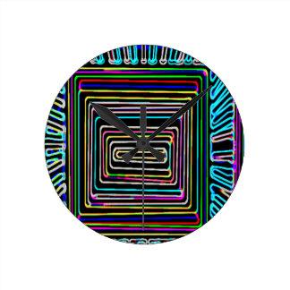 Art101 Window of Opportunity - Neon Light Round Clock
