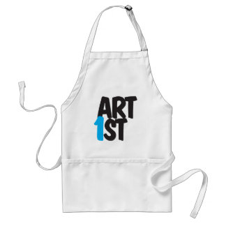 ART1st (Art First) | Brushscript monogram Adult Apron